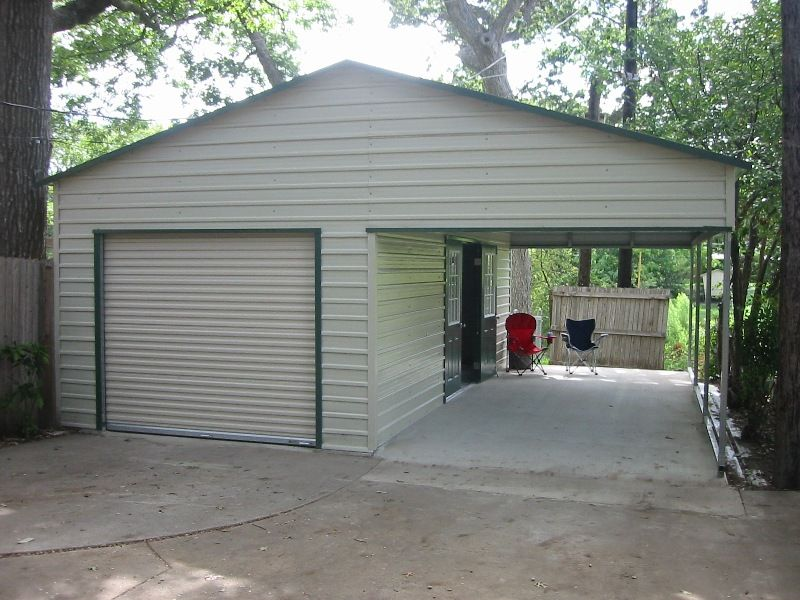 Woodworking plans garage with carport pdf plans for Carport garage plans