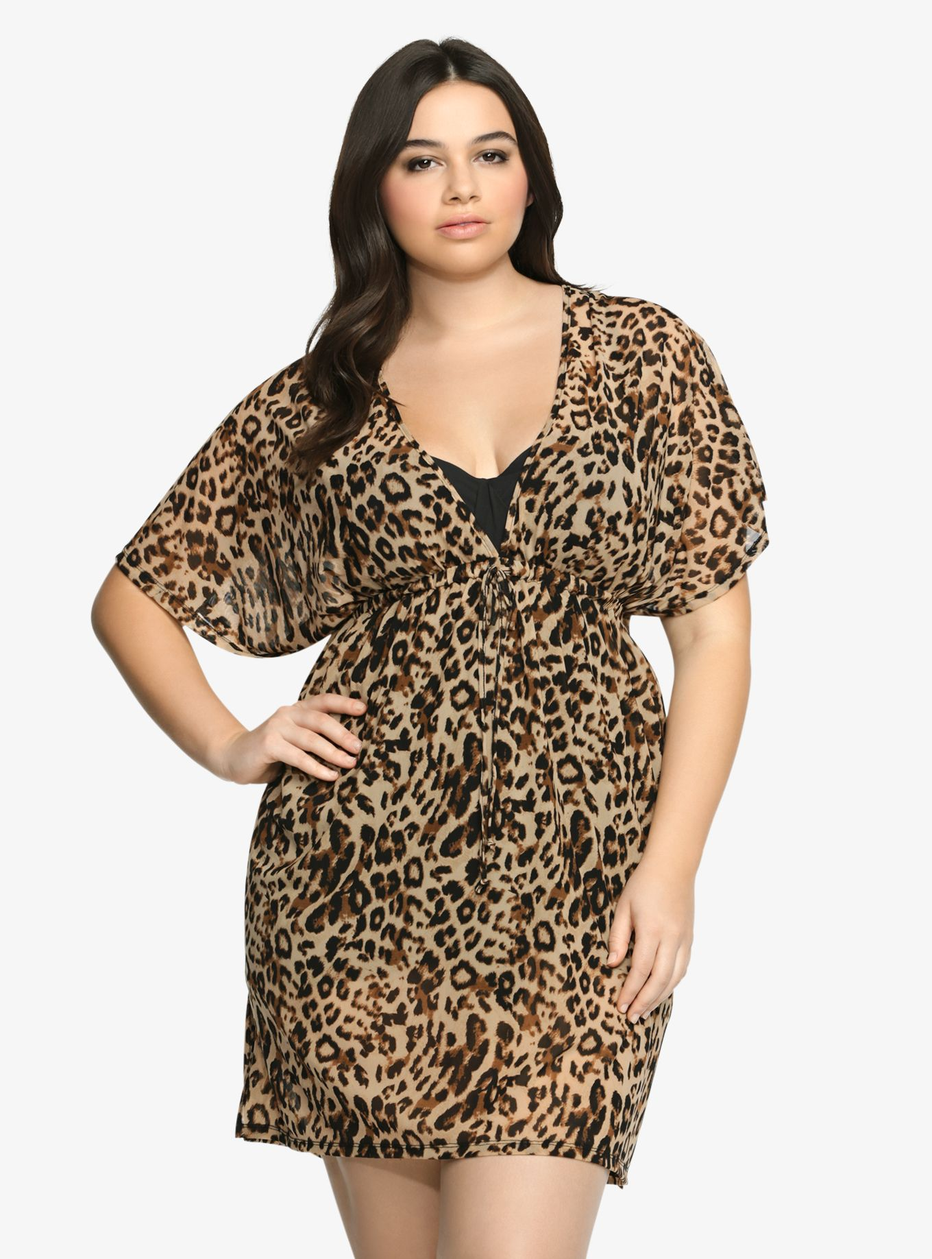396f50d1a8f18 Leopard Print Swim Cover-Up | Curvy Gal with Style | Fashion, Plus ...