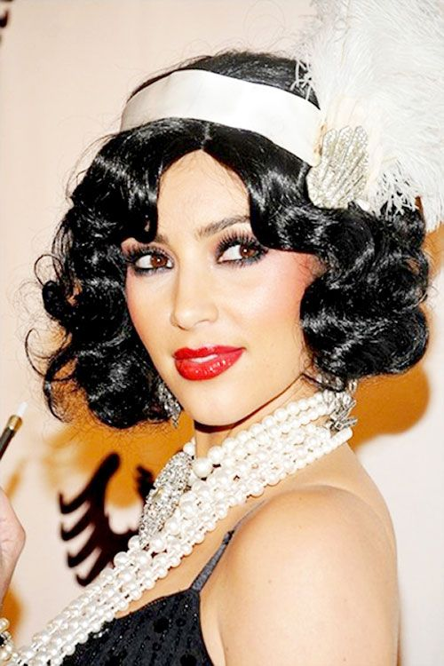 flapper hairstyles for curly hair - 500×750