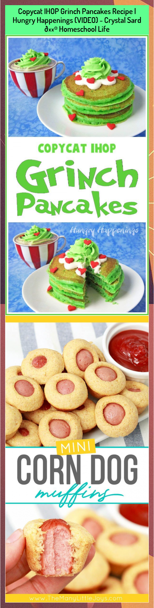 Copycat IHOP Grinch Pancakes Recipe | Hungry Happenings (VIDEO) - Crystal Sard 🖤 Homeschool Life #Copycat #Crystal #Grinch #Happenings #Homeschool #Hungry #IHOP #Life #pancakes #Recipe #Sard #VIDEO