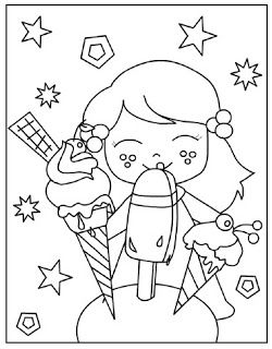 kleurplaten zomer summer coloring pages colorful