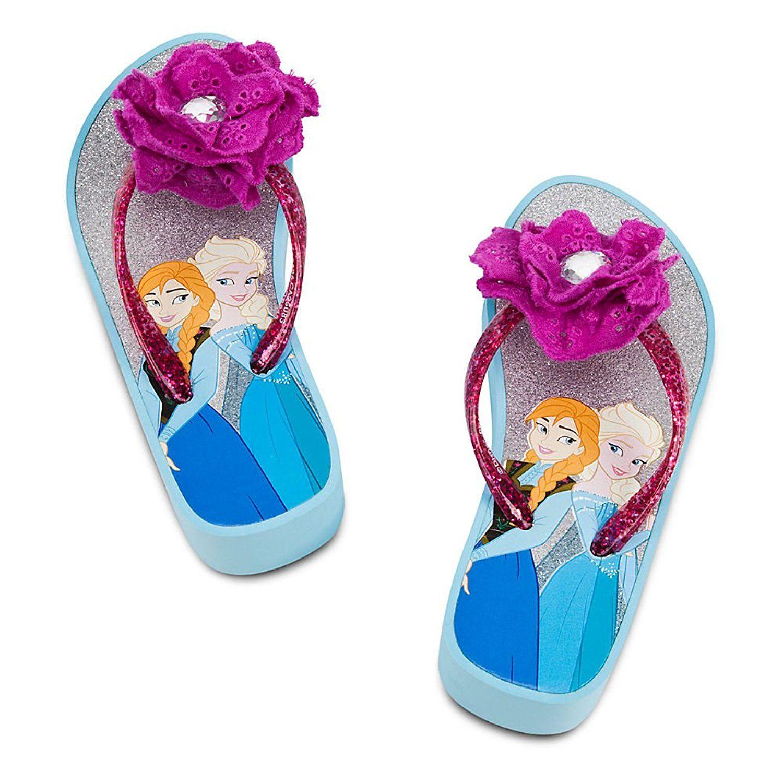 36ea18c6812e19 Disney Store Frozen Princess Elsa Anna Platform Flip-Flops Sandals Size  13 1 -- Discover this special product