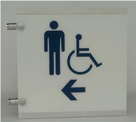 restroom directional sign. Restroom Directional Sign By Hangmeninc.com