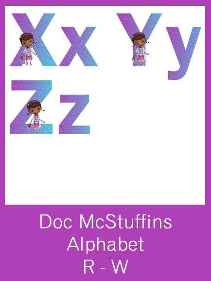 Doc McStuffins Alphabet Letters - FREE PDF Download ...