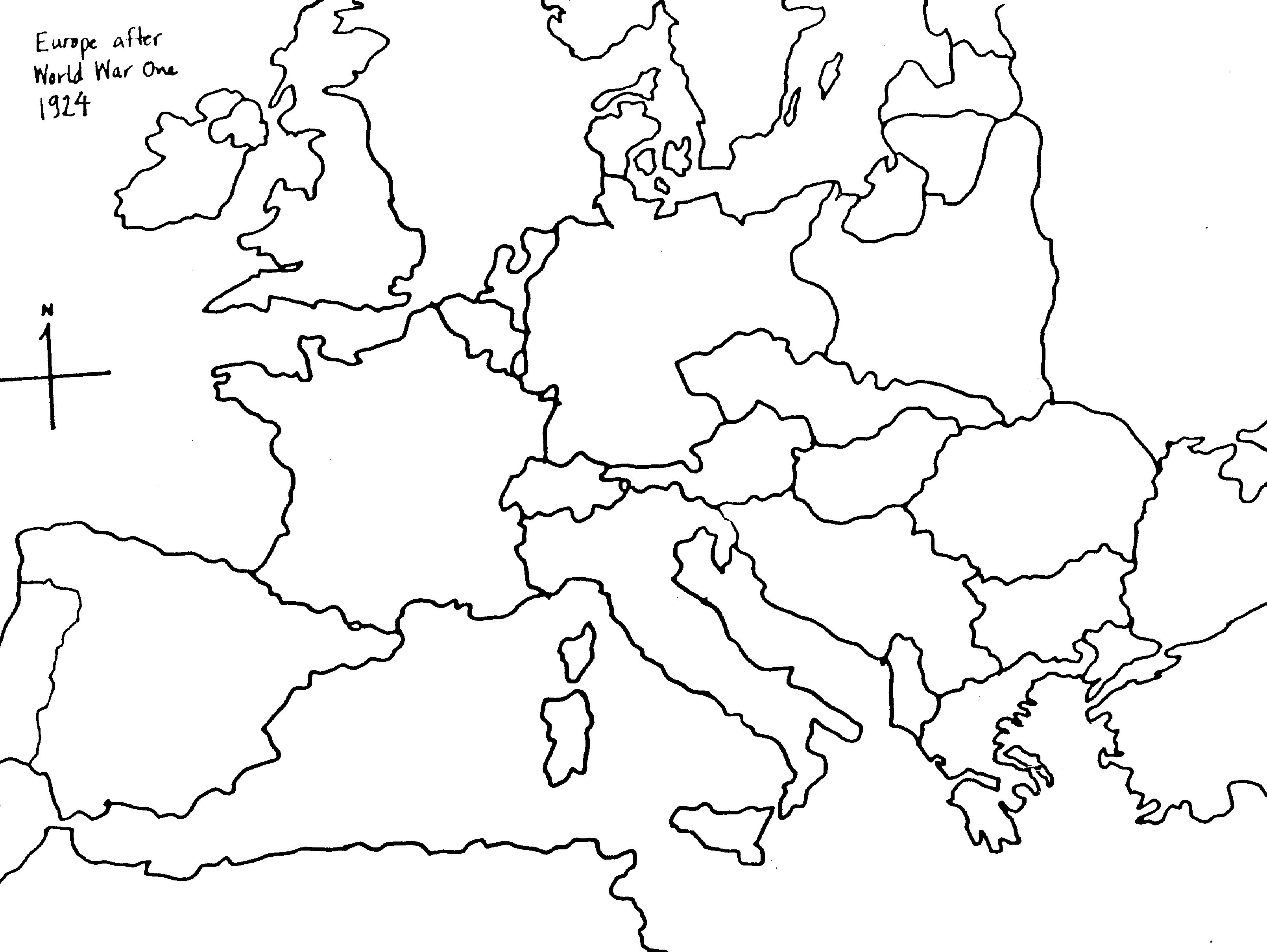 Blank map of europe post wwi pre wwii number the stars pinterest blank map of europe post wwi pre wwii gumiabroncs Gallery