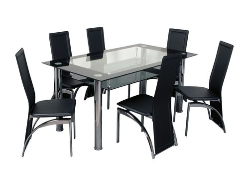 Atlantis Nouvelle Dining Table Atlantis Dining Table Glass Dining Table Black Tempered Glass Dining Table Atla Contemporary Dining Sets Table Dining Table