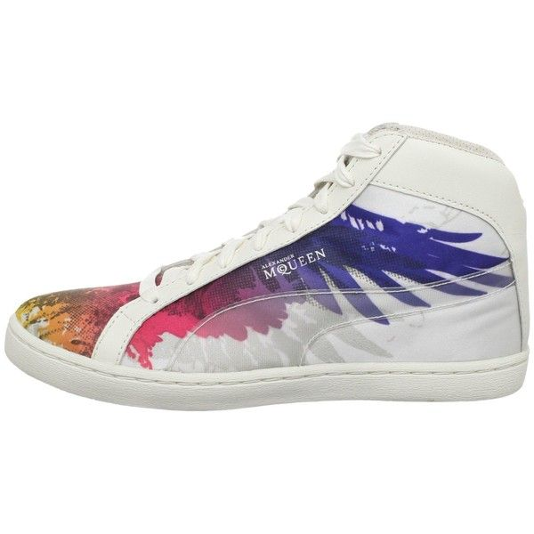 buy online be152 a2050 Alexander McQueen by PUMA Black Label Women s Eagle Print Sneaker ❤ liked  on Polyvore