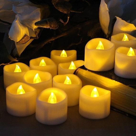 12 Pack 1 4 Votive Flameless Led Battery Operated Candles With