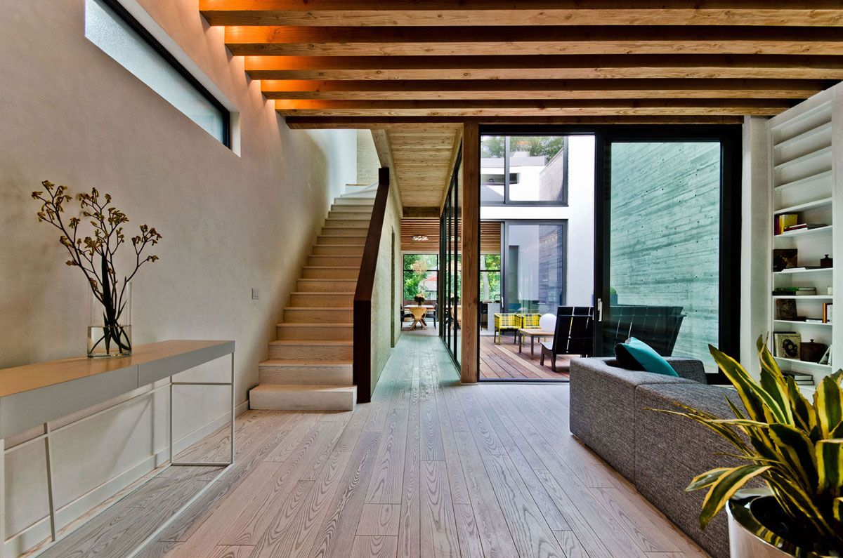 Ecological House In Montreal With Contemporary Exposed Beams | IDesignArch  | Interior Design, Architecture U0026