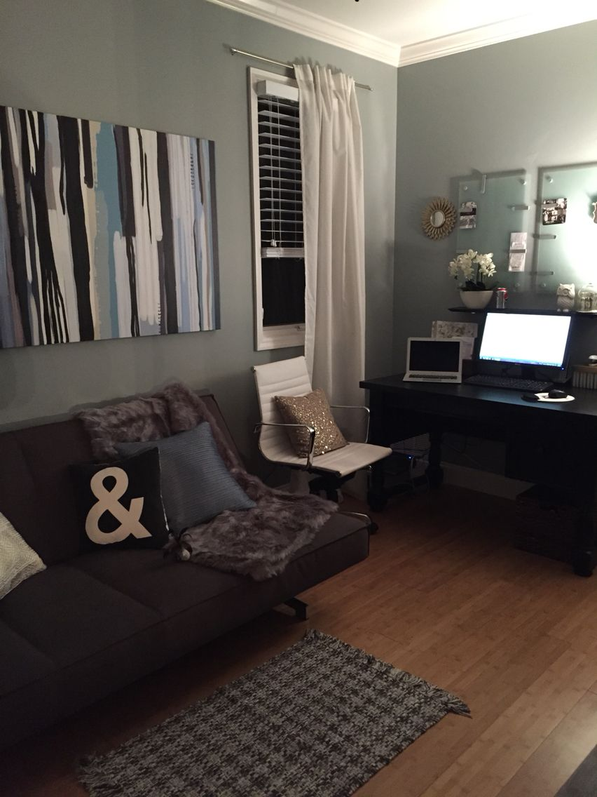 home office with futon cb2 potterybarn target lamara