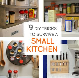 Nine DIY ideas to survive any small kitchen