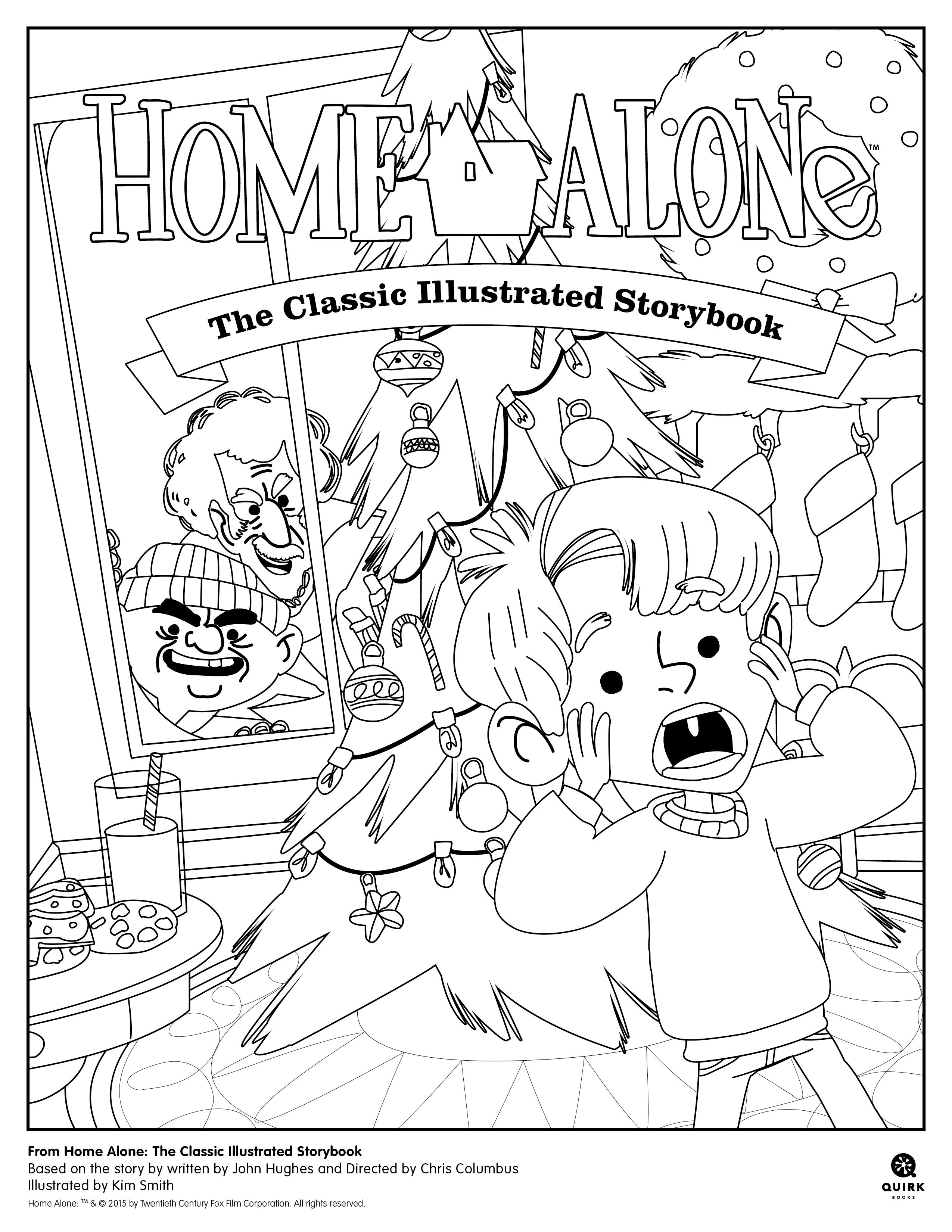 Coloring Page From Home Alone The Classic Illustrated Storybook Picturebook Holidays Edu Christmas Coloring Pages Coloring Pages Toy Story Coloring Pages