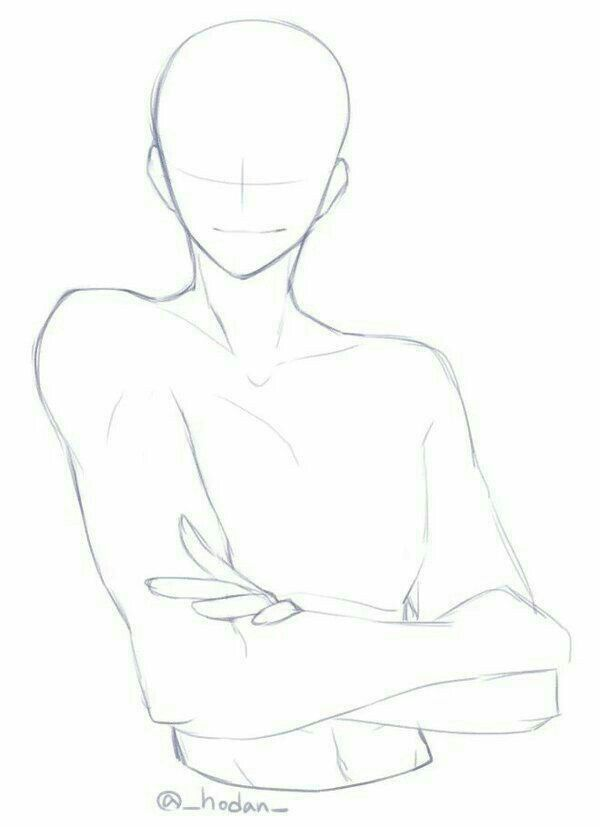 Male Smiling Arms Crossed Chill Drawing Reference Guy Drawing Anime Poses Pose Reference