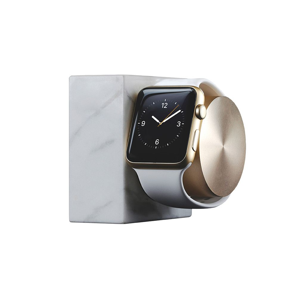 Buy native union apple watch marble charging dock white