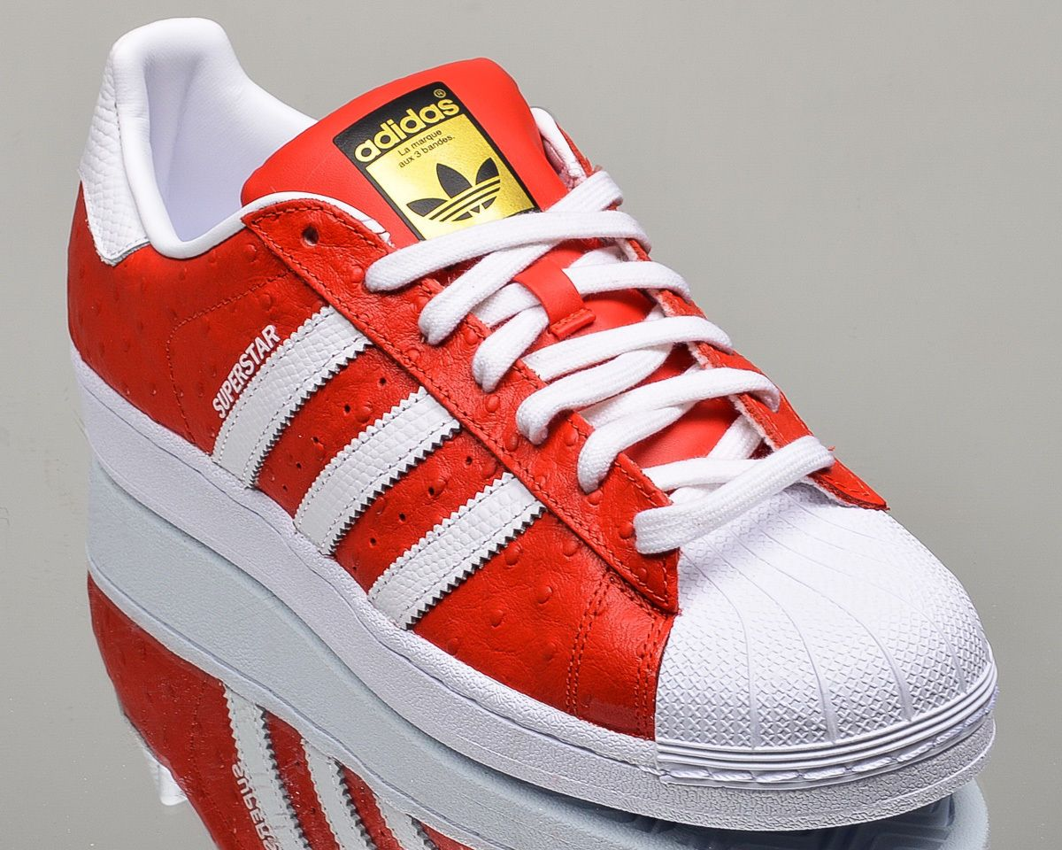 red and white superstars