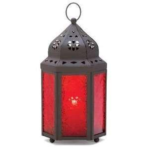 Hanging Outdoor Candle Lanterns | Garnet Moroccan Hanging Garden Lantern Candle Holder: Home