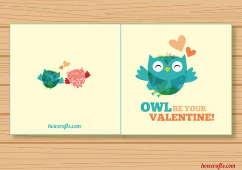"Valentine's card ""owl be your valentine!"""
