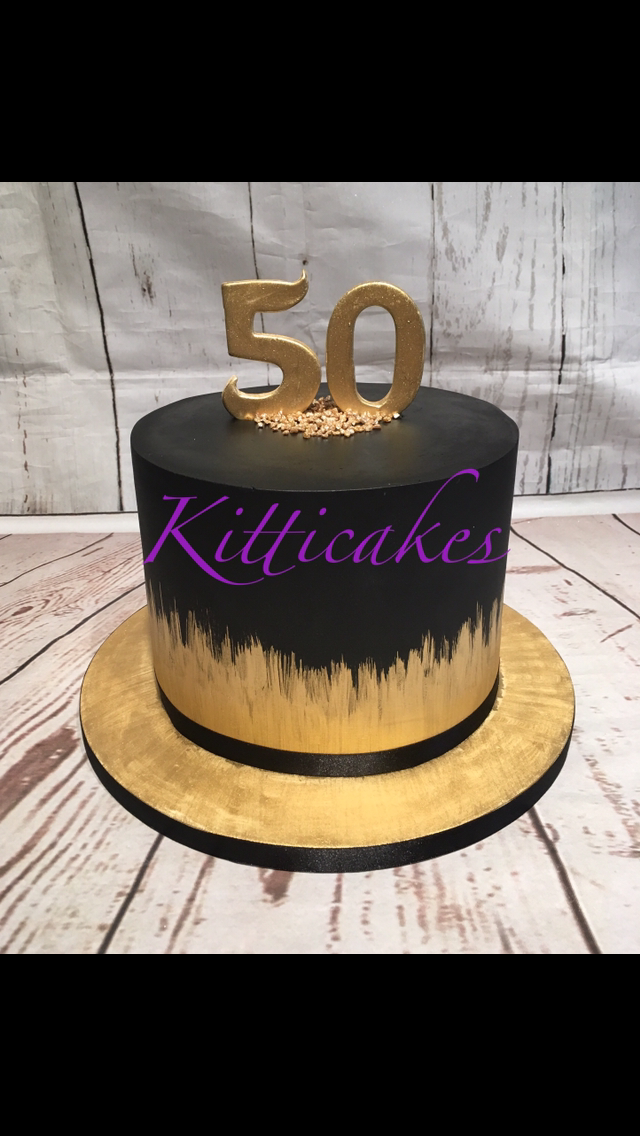 Tremendous Kitticakes Black And Gold Cake With Images Birthday Cakes For Men Funny Birthday Cards Online Elaedamsfinfo