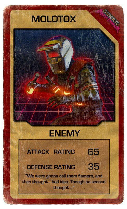 Molotox Far Cry 3 Blood Dragon Trading Cards Crying Dragon