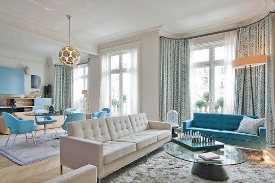 Jolie décor éclectique pour un appartement haussmannien | Salons ...