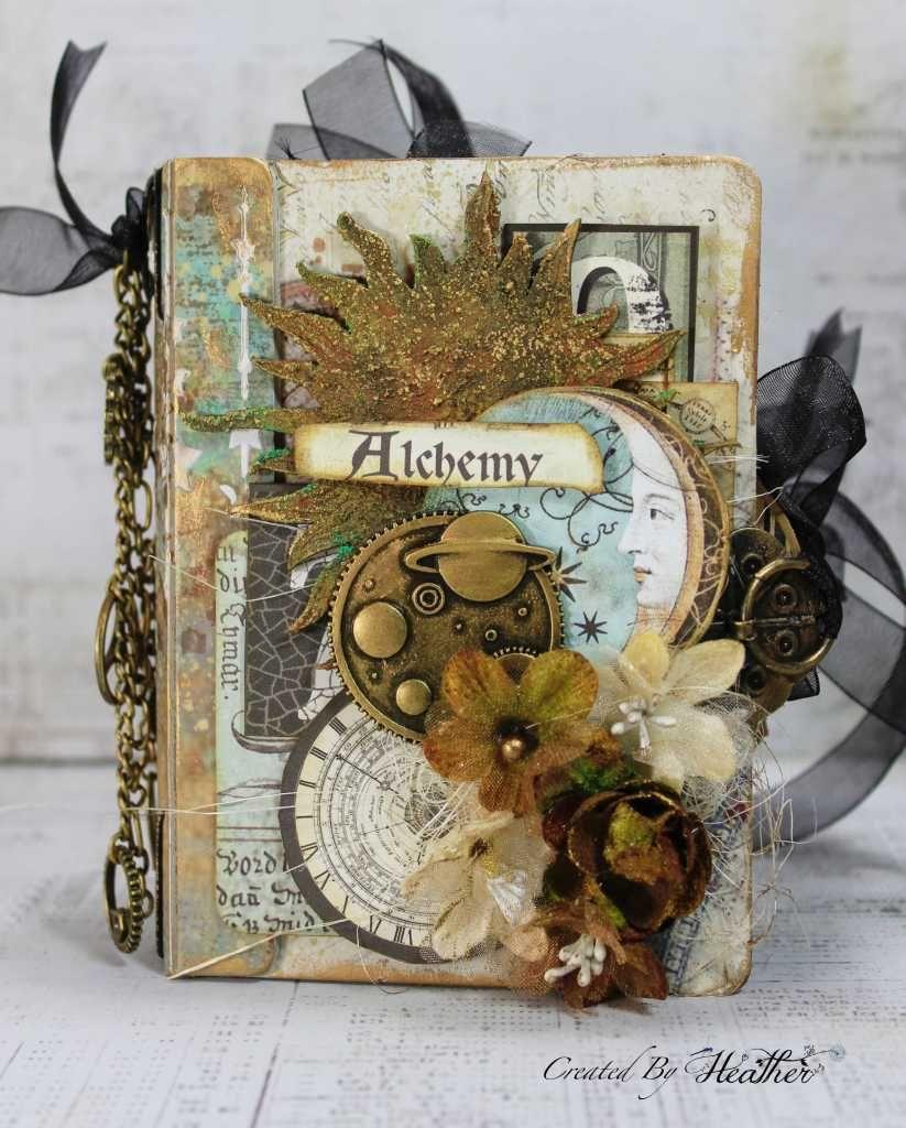 Alchemy Passport Journal Halloween mini albums, Handmade
