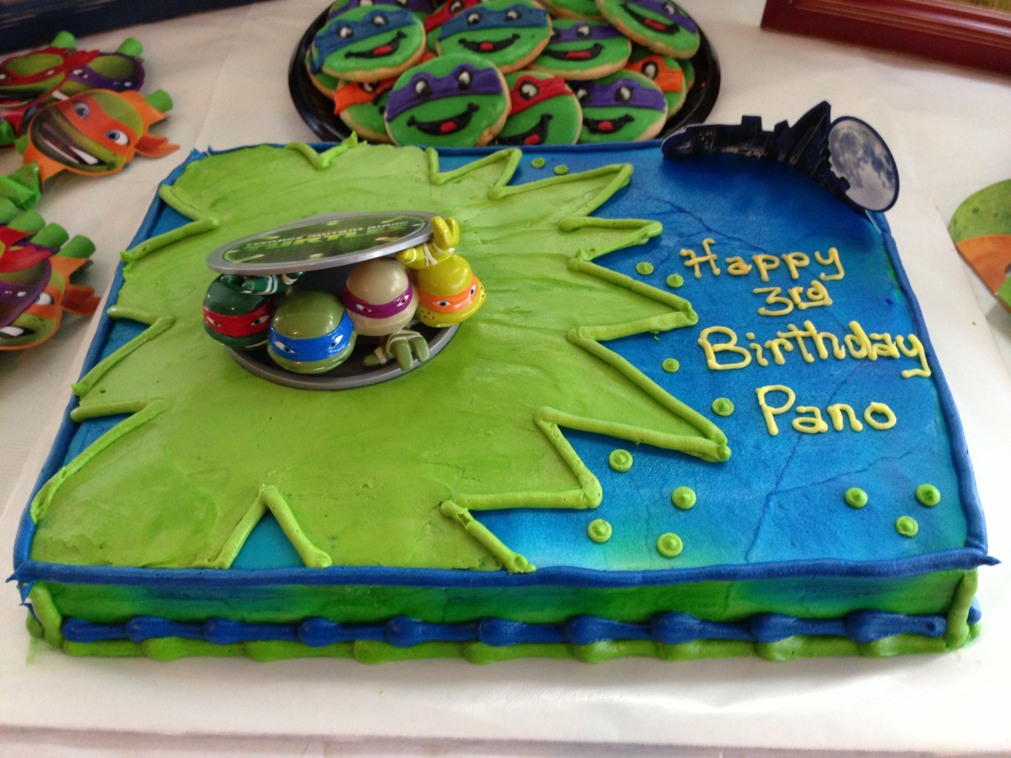 TMNT birthday cake! | Kids | Pinterest | TMNT, Birthday ...