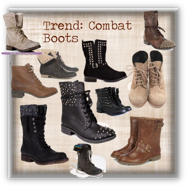 """Combat Boots"" by valerallerie on Polyvore"