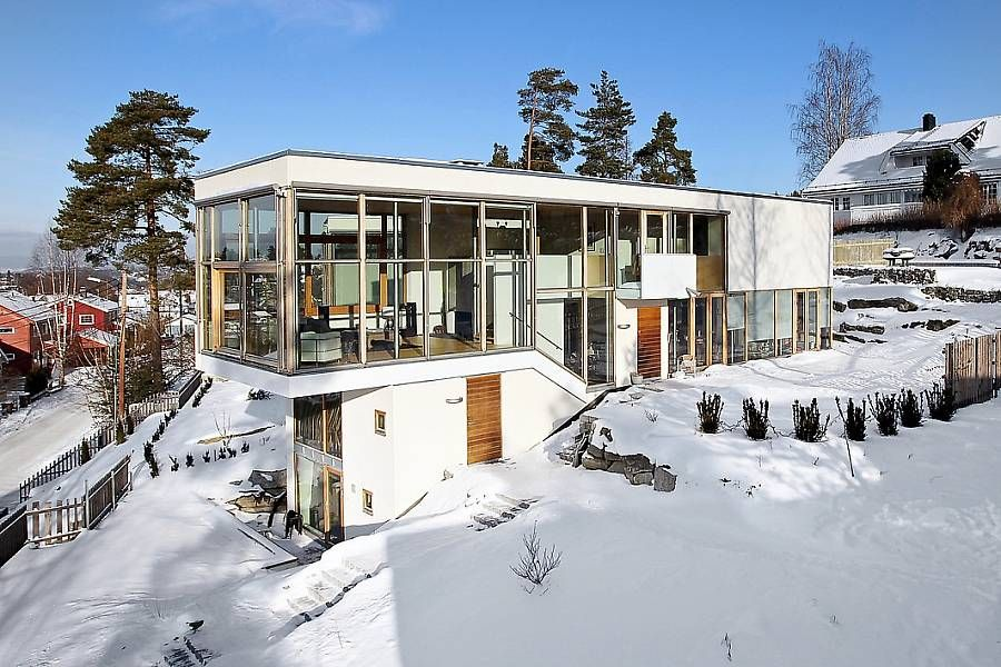 Norwegian funkis house design funkis house pinterest for Funkis house