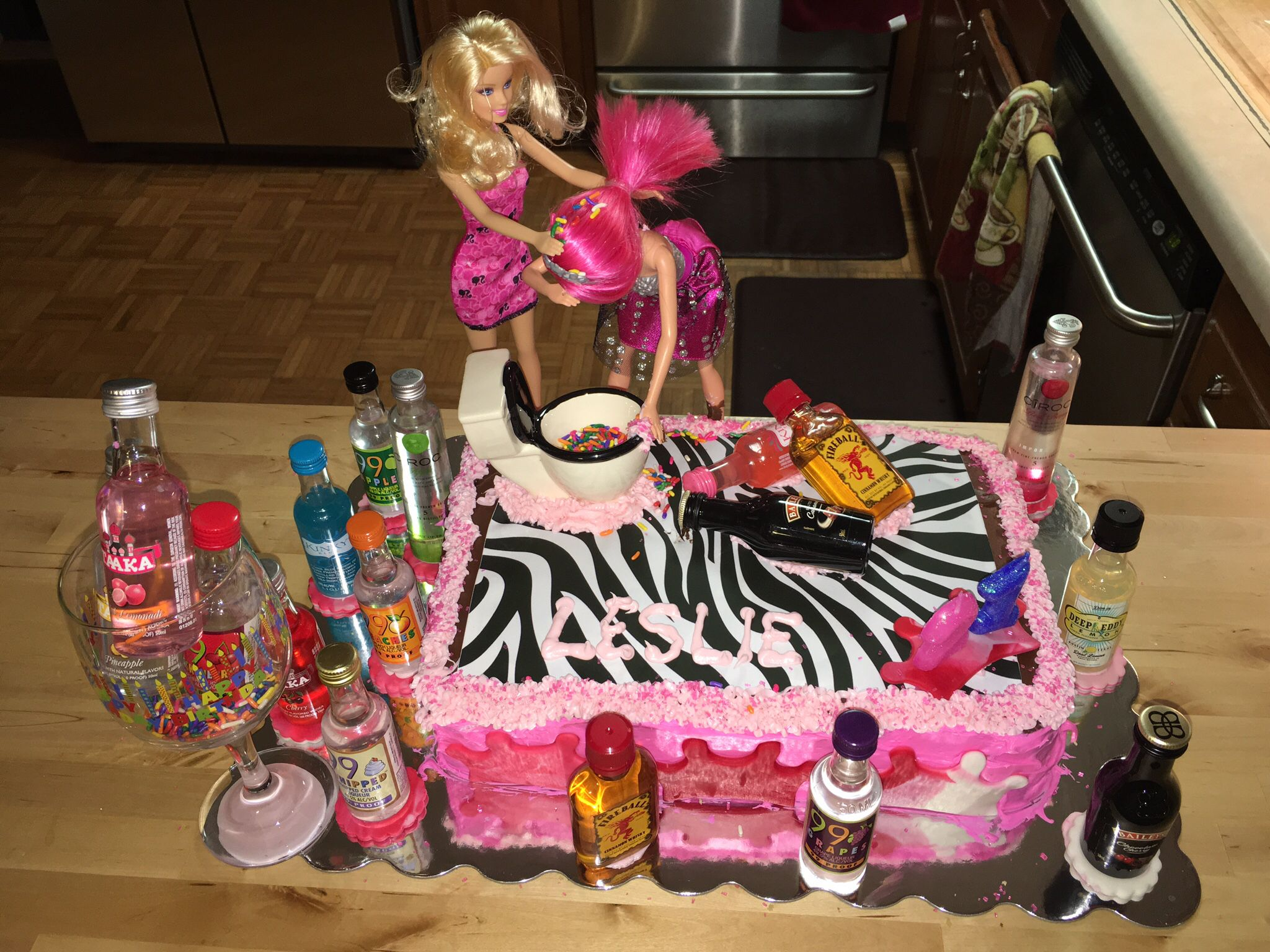 Pin On Drunk Barbie Cake