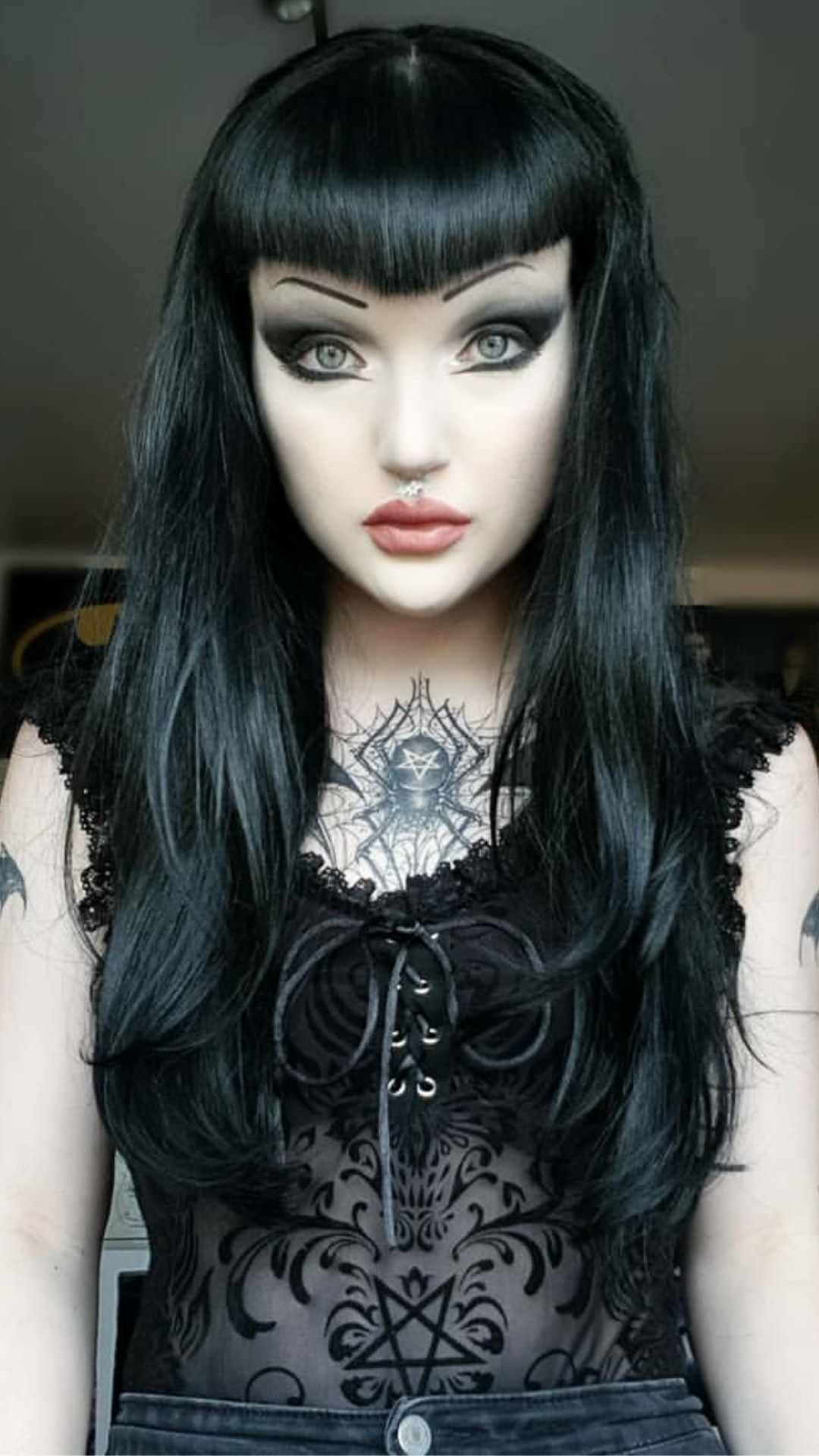 Pin By Spiro Sousanis On Mera Luna Gothic Hairstyles Hair Makeup Style