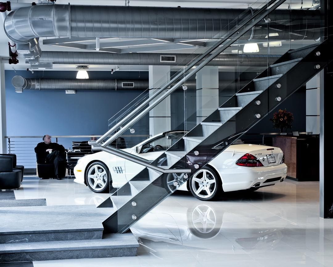 Benzel Busch Mercedes >> Architectural Glass Railings Modern Staircase At Mercedes Benz