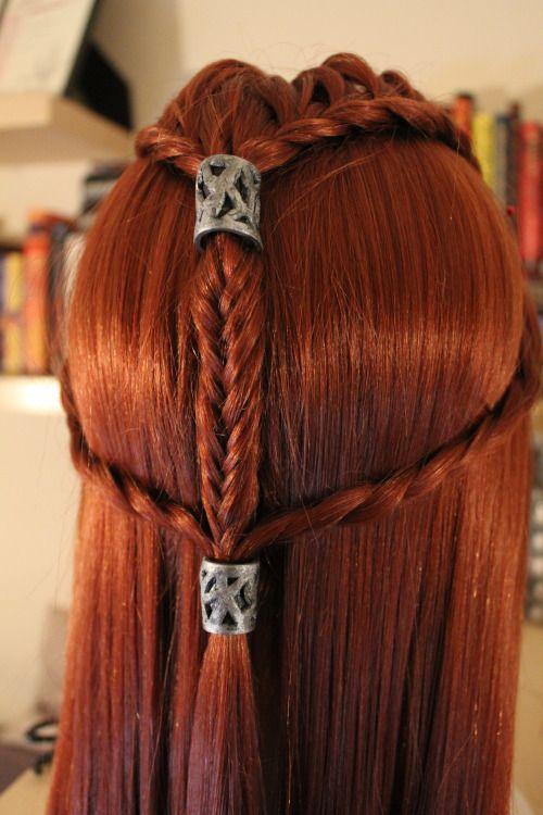 Tauriel Hair Sok Pa Google Medieval Hairstyles Renaissance Hairstyles Elven Hairstyles