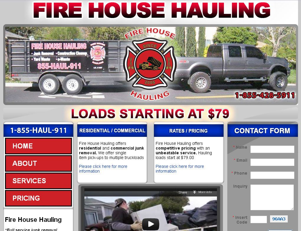 Bay Area Junk removal and hauling company Fire house