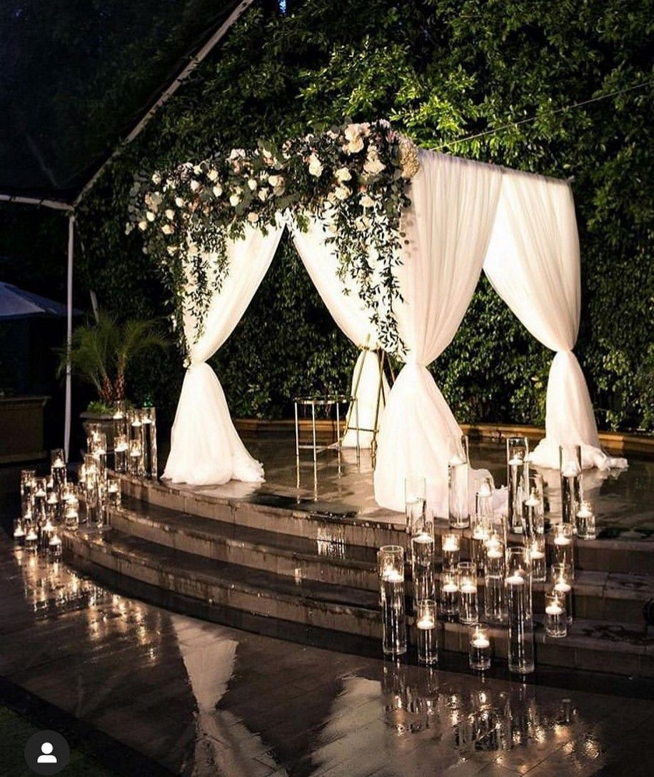 Simple Outdoor Wedding Ideas: 70+ Simple Beautiful Rustic Backdrop Wedding Ideas