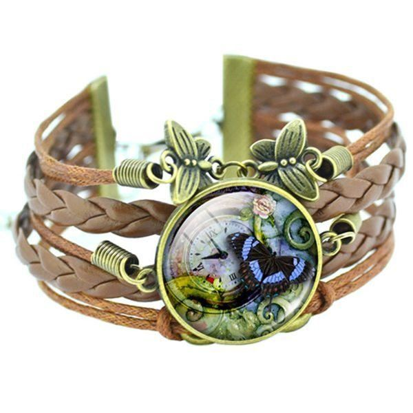 Butterfly Bracelet Classic Fashionable Leather