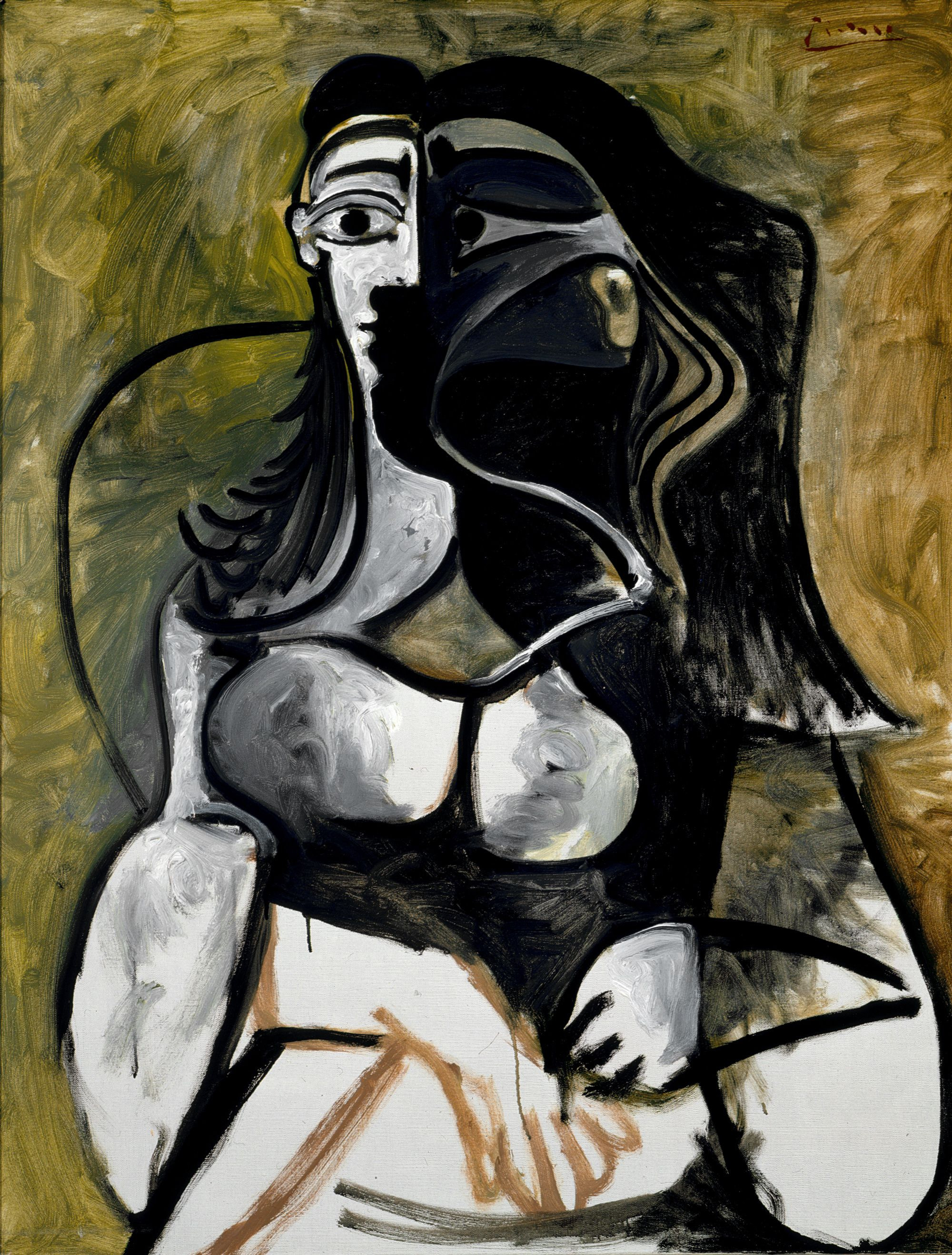 title: woman in an armchair (jacqueline roque picasso) artist