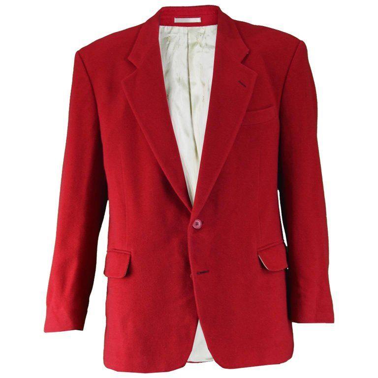 c6160482413 Yves Saint Laurent Men Vintage Dark Wool & Cashmere 1980S Blazer, Red