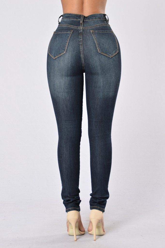 Womens Ladies Whisker High Waisted 3 Button Denim Tight Skinny Fit Pockets Jeans