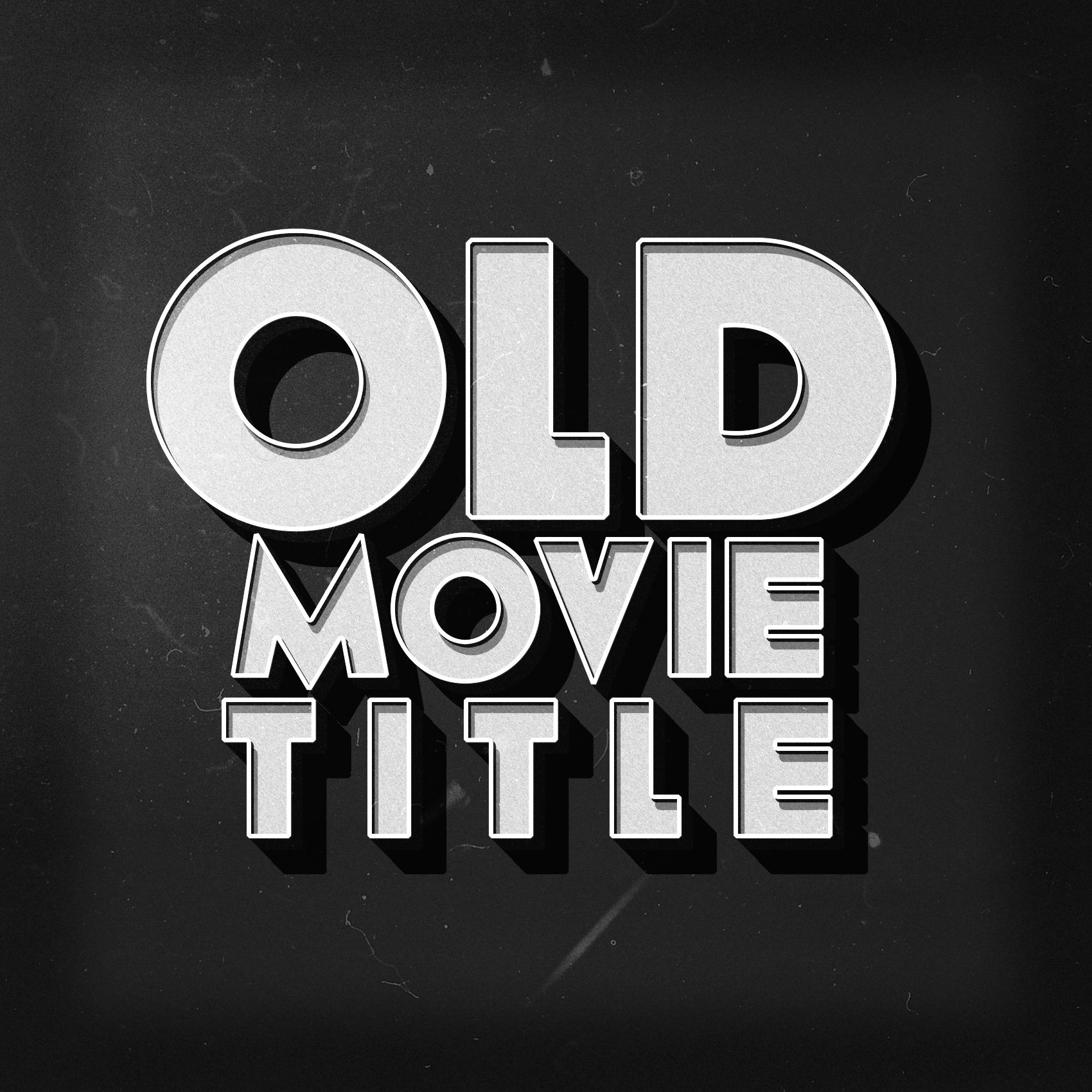 Create your Old movie text style. The main text works with smart ...
