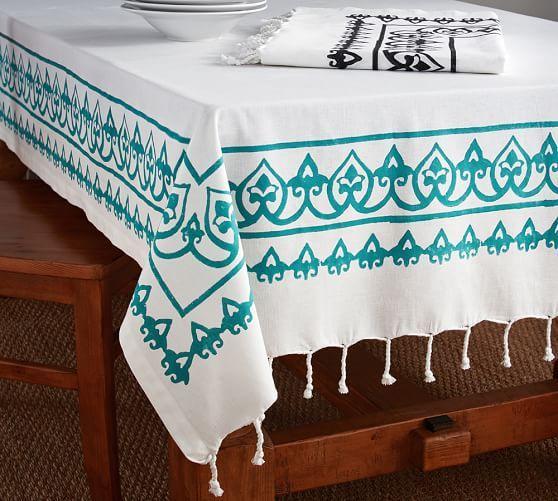 Delicieux Yara Hand Block Print Tablecloth