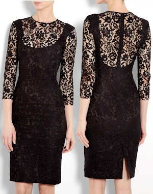 Joseph Black Lace Dress Black Lace Frame Clutch And Chinese