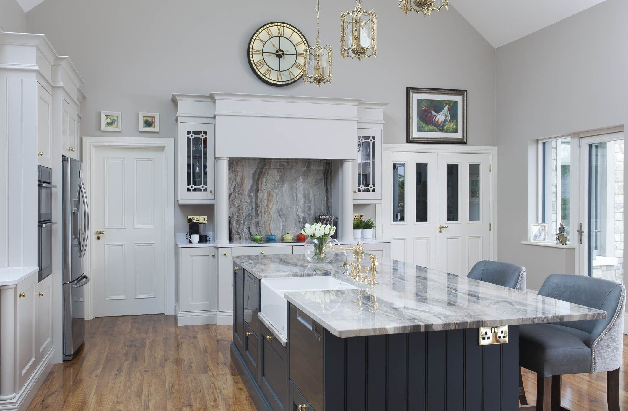 Best Design Features Extra Tall Cabinetry Painted In Farrow 400 x 300