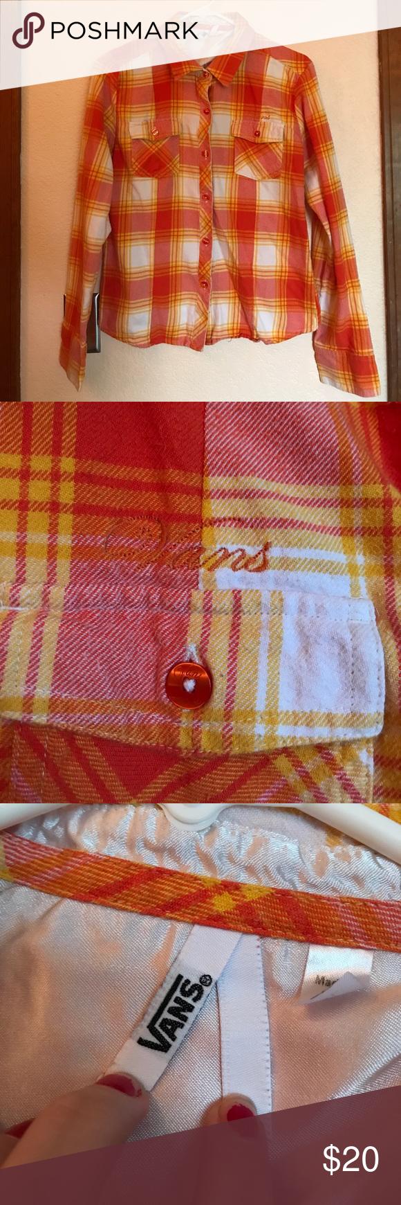 Flannel shirts yellow  VANS Orange u Yellow Flannel shirt  Flannel shirts Flannels and Vans