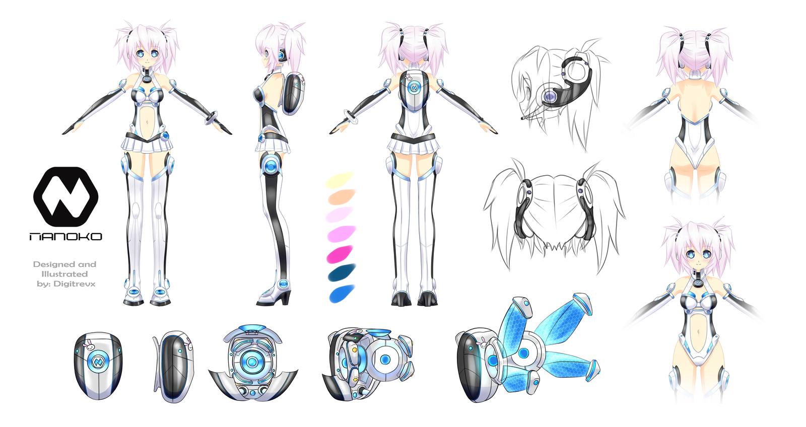 Anime Character Design Reference : Anime character model sheet pesquisa google