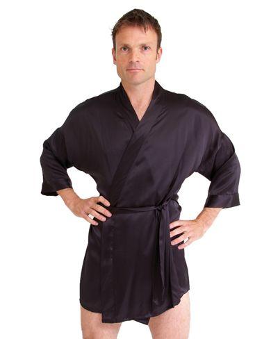 2019 discount sale select for best look good shoes sale Short Silk Kimono   Men's Nightwear   Short gown dress, Silk ...