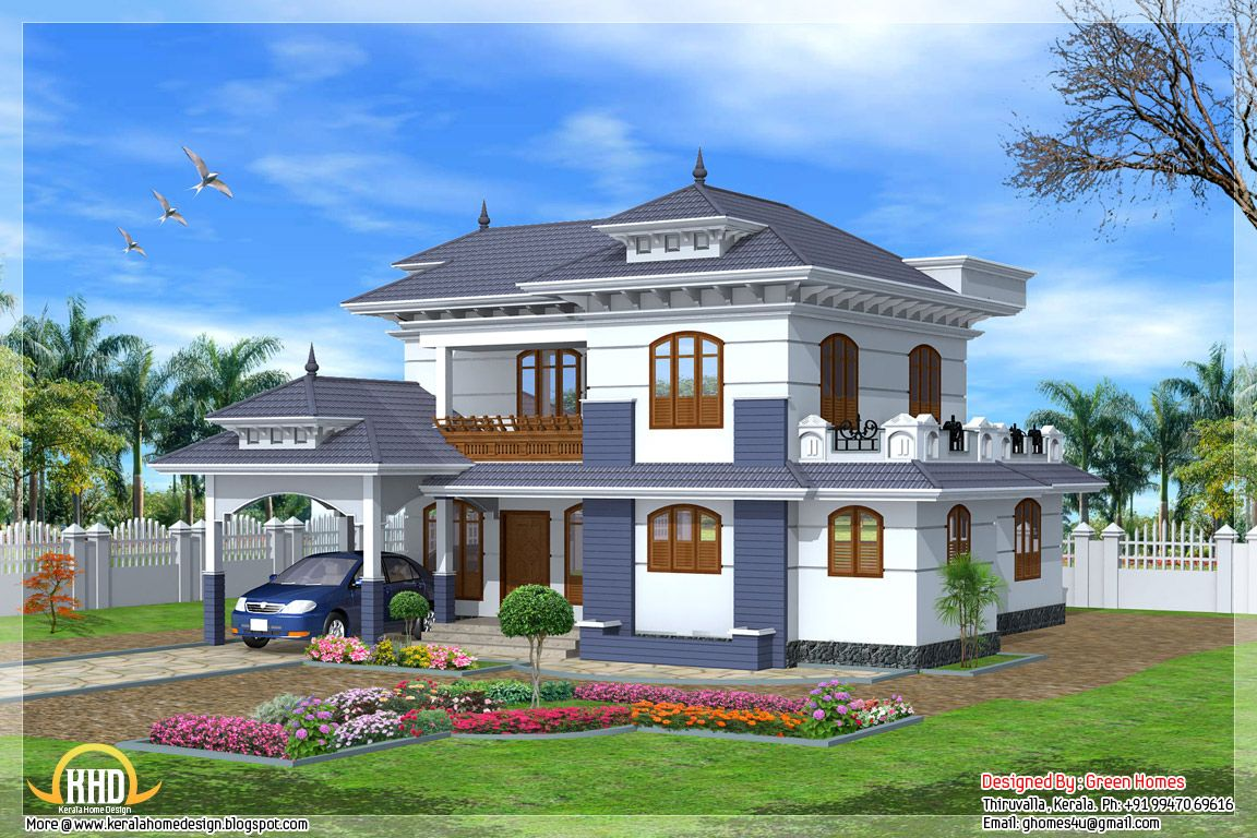 Traditional kerala style home exterior design inkiso my Kerala style house exterior designs