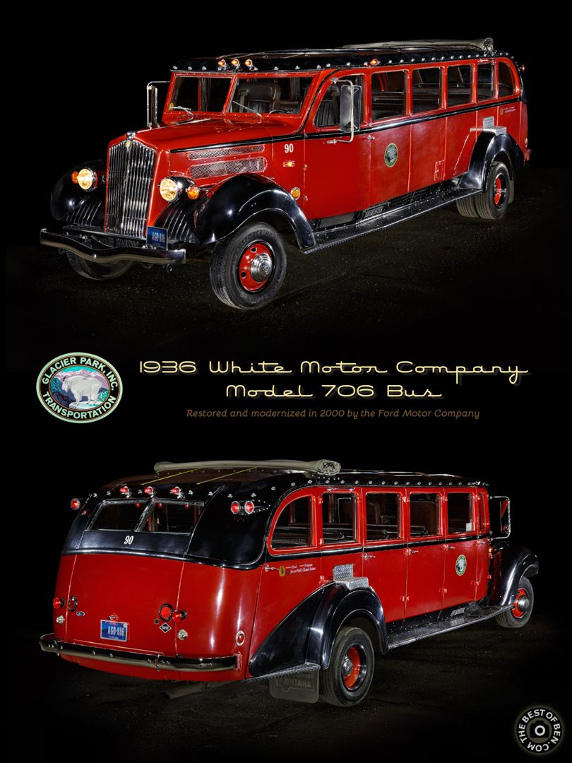 1936 White Motor Company Model 706 bus from the Glacier