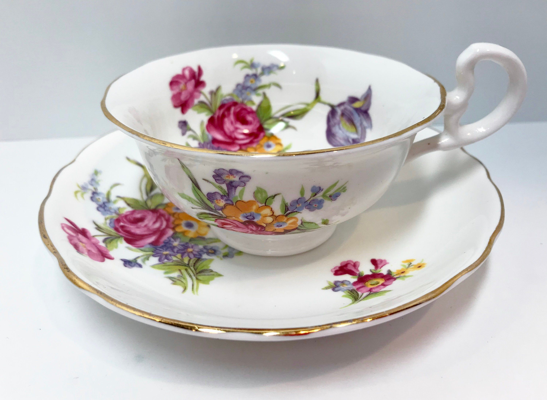 Radfords Tea Cup and Saucer, English Teacups, Antique Tea Cups Vintage, English Bone China Cups, Bridal Shower Gift, Floral Tea Cups #teacups