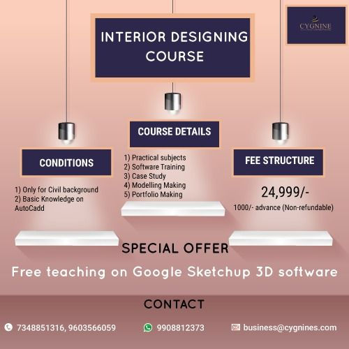 We are offering interior designing course dm for details or call to mentioned phone numbers also rh pinterest