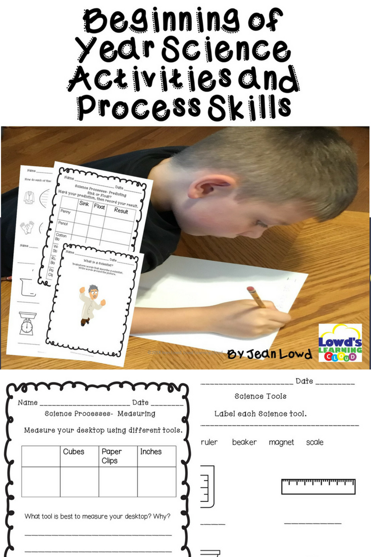 Beginning of the Year Science Activities and Processes